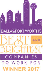 Dallas, Forth Worth's Best and Brightest Companies to Work For - Winner 2017