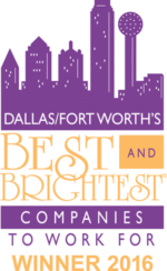 Dallas, Forth Worth's Best and Brightest Companies to Work For - Winner 2016